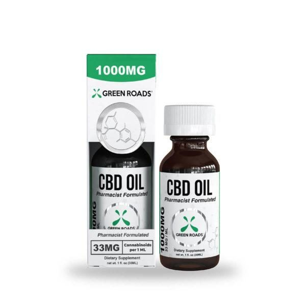 cbd-kafe,CBD Oil – 1000 mg,Green Roads,Broad Spectrum