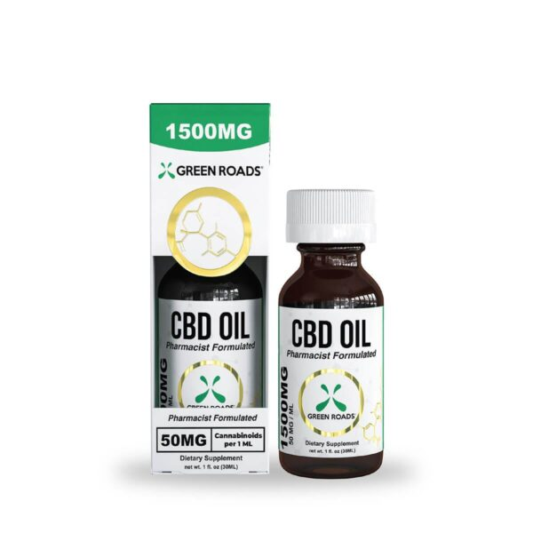 cbd-kafe,CBD Oil – 1500 mg,Green Roads,Broad Spectrum