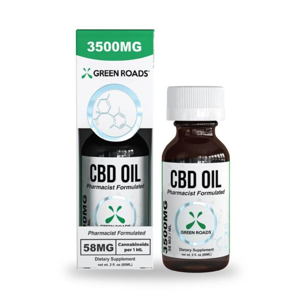 cbd-kafe,CBD Oil – 3500 mg,Green Roads,Broad Spectrum