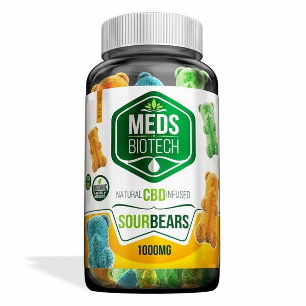 Meds Biotech Gummies - CBD Infused Sour Bears