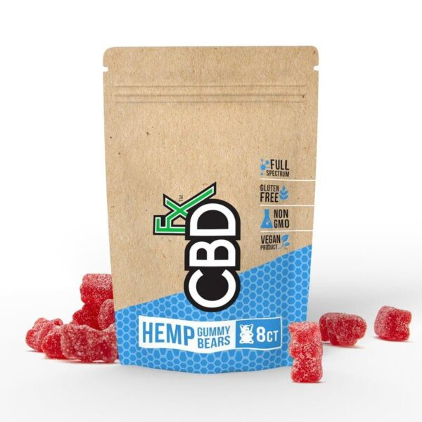 cbd-kafe,CBD Gummy Bears 40mg (8ct Pouch),CBDFX,Full Spectrum