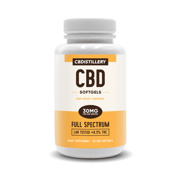 cbd-kafe,Full Spectrum CBD Softgels – 30mg – 30 Count,CBDistillery,Full Spectrum