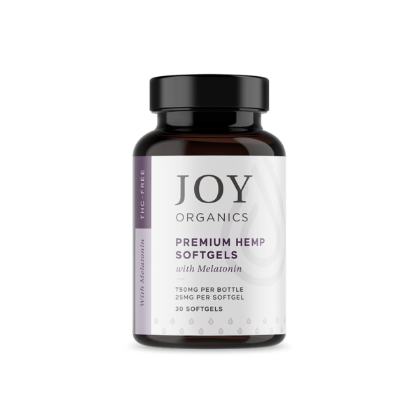 cbd-kafe,Joy Organics CBD Softgels with Melatonin,Joy Organics,Broad Spectrum