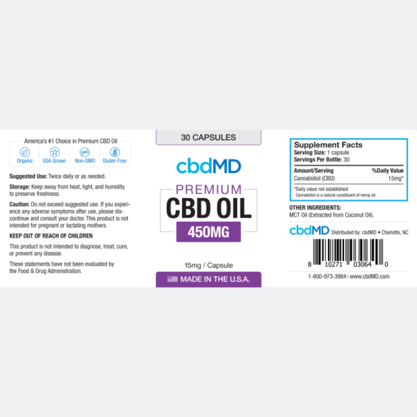 cbd-kafe,CBD Oil Capsules 450mg,CBDFX,Full Spectrum