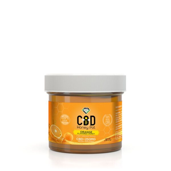 cbd-kafe,Diamond CBD Honey Pot - Orange  250 mg,Diamond CBD,Full Spectrum