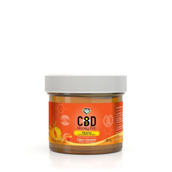 cbd-kafe,Diamond CBD Honey Pot - Peach 250 mg,Diamond CBD,Full Spectrum