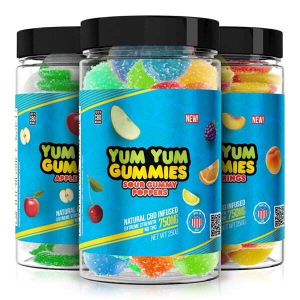 CBD Yum Yum Gummies Bundle - High Strength - 750mg