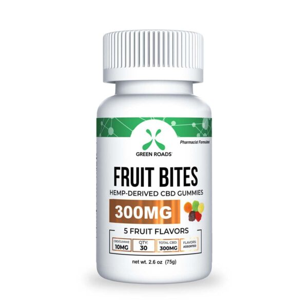 cbd-kafe,CBD Fruit Bites – 300 mg,Green Roads,Broad Spectrum