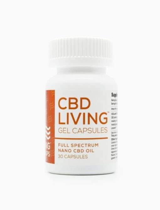 cbd-kafe,CBD Living 25 MG – 30 Count Gel Capsules,CBD Living,Full Spectrum