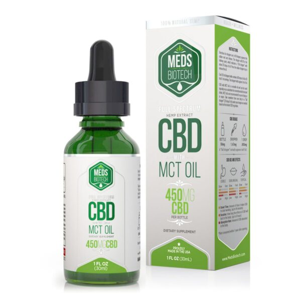 cbd-kafe,Meds Biotech Full Spectrum MCT Oil - 450mg (30ml),Meds Biotech,Full Spectrum