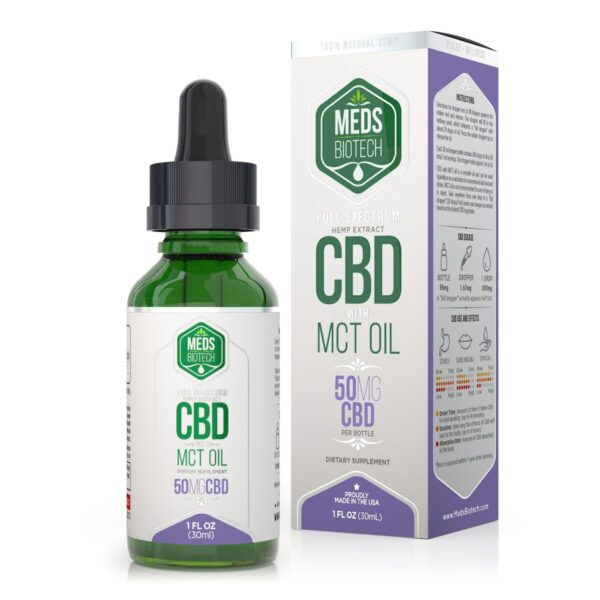 cbd-kafe,Meds Biotech Full Spectrum MCT Oil - 50mg (30ml),Meds Biotech,Full Spectrum