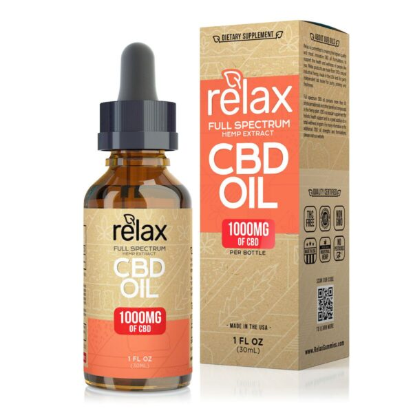 cbd-kafe,Relax Full Spectrum CBD Oil - 1000mg,Relax,Full Spectrum