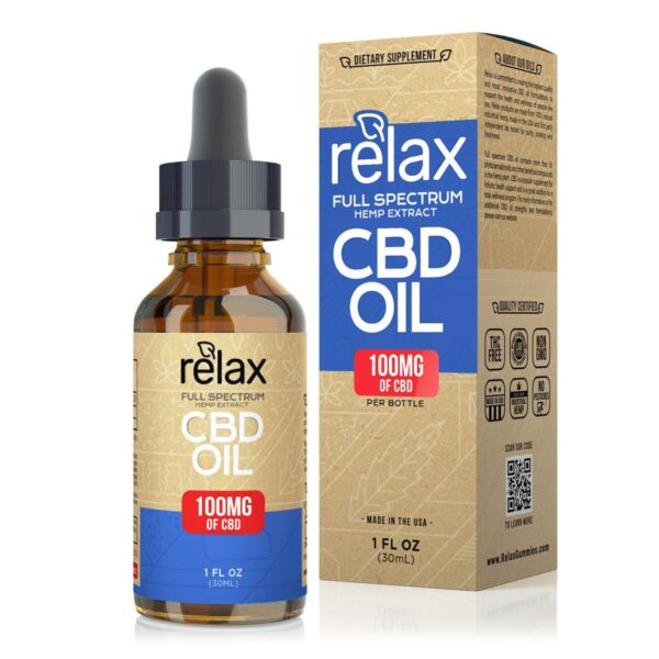 cbd-kafe,Relax Full Spectrum CBD Oil - 100mg,Relax,Full Spectrum