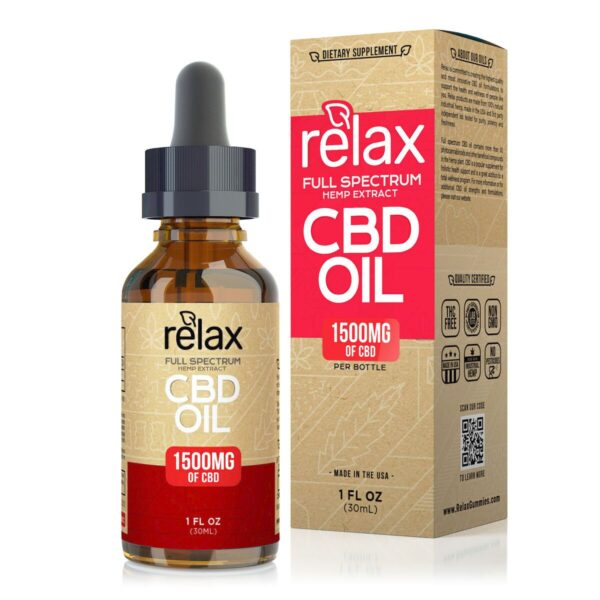 cbd-kafe,Relax Full Spectrum CBD Oil - 1500mg,Relax,Full Spectrum