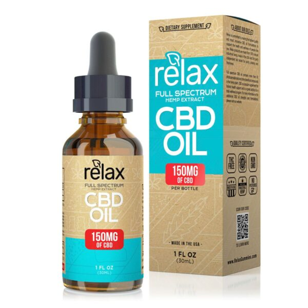 cbd-kafe,Relax Full Spectrum CBD Oil - 150mg,Relax,Full Spectrum