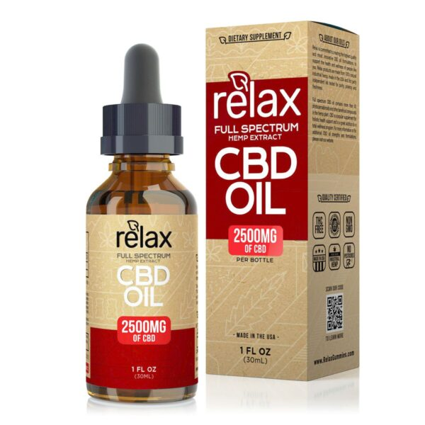 cbd-kafe,Relax Full Spectrum CBD Oil - 2500mg,Relax,Full Spectrum