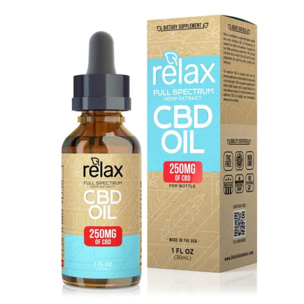 cbd-kafe,Relax Full Spectrum CBD Oil - 250mg,Relax,Full Spectrum