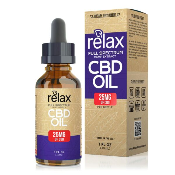 cbd-kafe,Relax Full Spectrum CBD Oil - 25mg,Relax,Full Spectrum