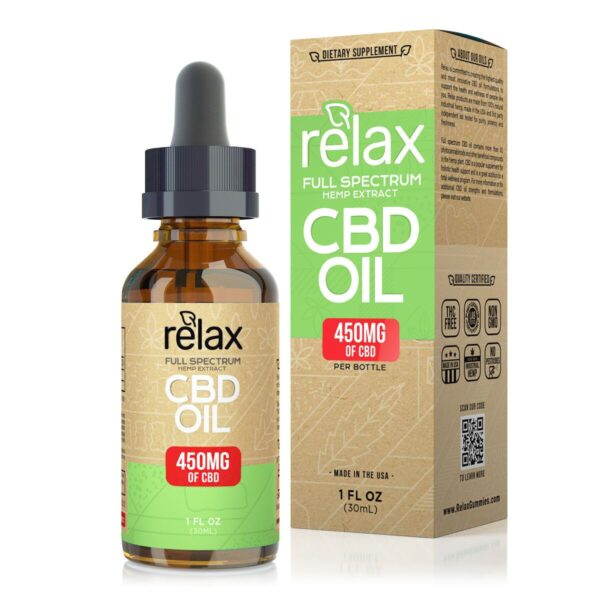 cbd-kafe,Relax Full Spectrum CBD Oil - 450mg,Relax,Full Spectrum