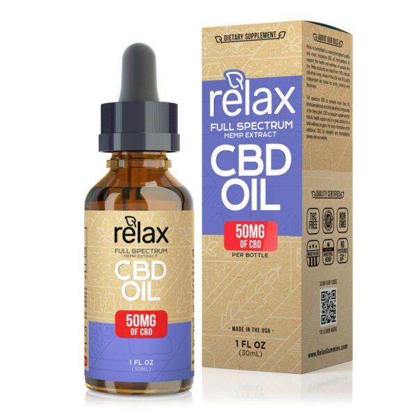 cbd-kafe,Relax Full Spectrum CBD Oil - 50mg,Relax,Full Spectrum