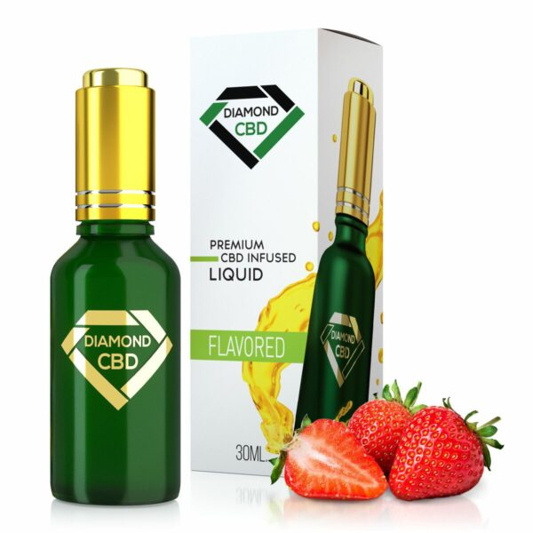 cbd-kafe,Strawberry Flavor Diamond CBD Oil,Diamond CBD,Full Spectrum