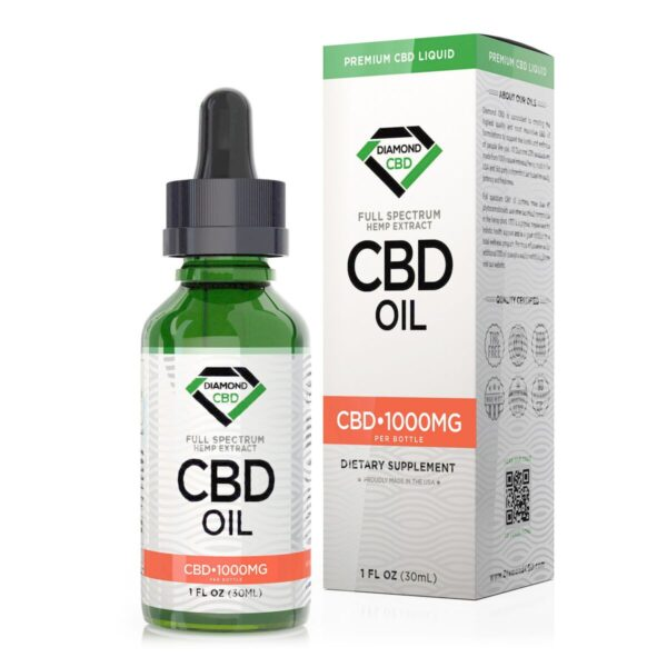 cbd-kafe,Unflavored Diamond CBD Oil - 1000mg,Diamond CBD,Full Spectrum