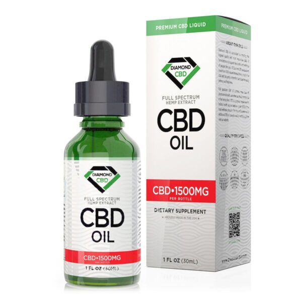 cbd-kafe,Unflavored Diamond CBD Oil - 1500mg,Diamond CBD,Full Spectrum