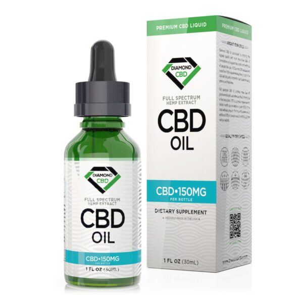 cbd-kafe,Unflavored Diamond CBD Oil - 150mg,Diamond CBD,Full Spectrum