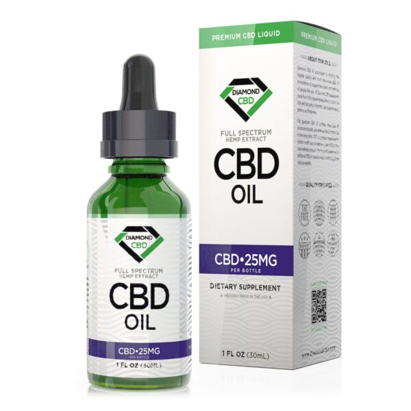 cbd-kafe,Unflavored Diamond CBD Oil - 25mg,Diamond CBD,Full Spectrum
