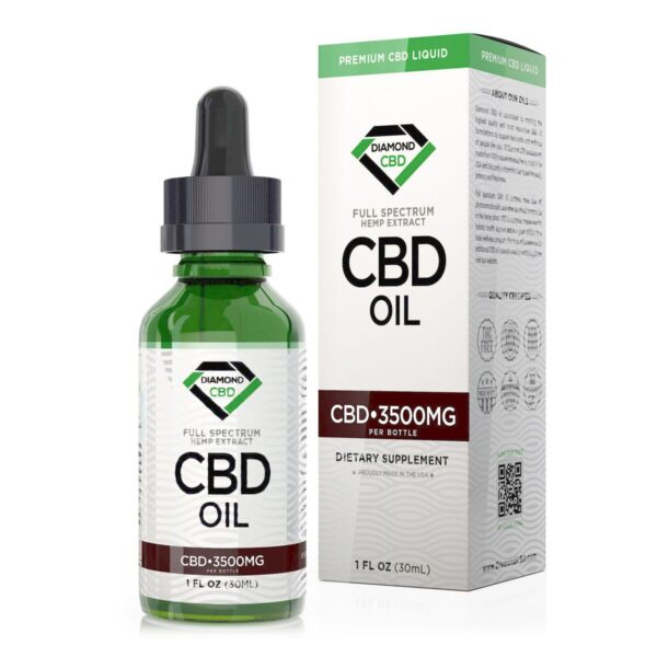 cbd-kafe,Unflavored Diamond CBD Oil - 3500mg,Diamond CBD,Full Spectrum
