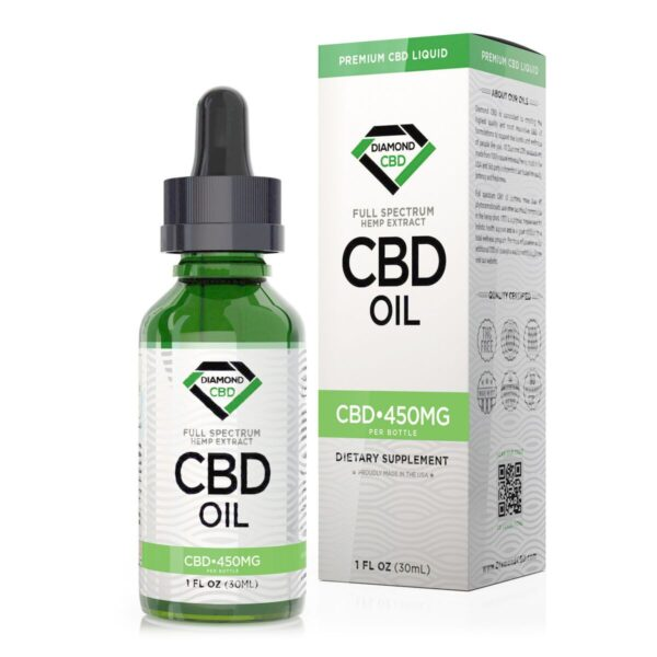 cbd-kafe,Unflavored Diamond CBD Oil - 450mg,Diamond CBD,Full Spectrum