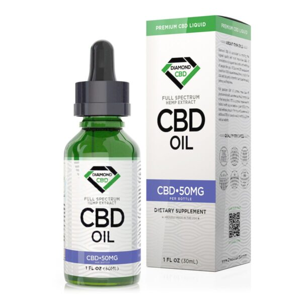 cbd-kafe,Unflavored Diamond CBD Oil - 50mg,Diamond CBD,Full Spectrum